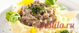 Бефстроганов из говядины – 5 изысканных рецептов Бефстроганов из говядины по классическому рецепту готовится со сметанным или сливочным соусом. Блюдо можно дополнить грибами.
