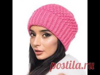 вязание шапки узором путанкаknitting Hats Pattern Thread Waste
