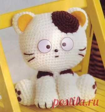 Вязаный котенок амигуруми В этом посте вы найдете схему вязания кота в лучших традициях амигуруми.
