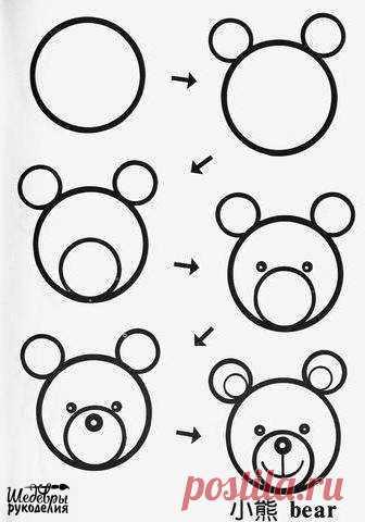 Рисунки из кружков — Поделки с детьми