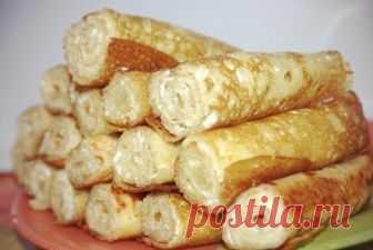Заварные блинчики на кефире Ингредиенты:кефир (1% жирности) 350 млкипяток 250 млмука 250 гяйцо 3 шт.соль 0,5 ч. л.сахар 1 ст. л.сода 0,5 ч.л.растительное масло 3 ст. л. (в тесто)творожный сыр с зеленью (для начинки)Способ пригот…