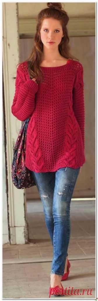 Комфортный пуловер в стиле Оверсайз   Одежда в стиле oversize имеет неповторимый явно свободный крой.  Свобода стиля и свобода кроя, комфорт и непринужденность.  Кликните по картинке, чтобы увеличить её  источник