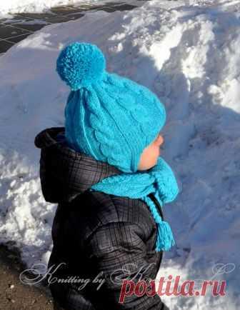 Вязание спицами для девочек Шапочка