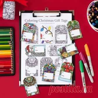 Christmas Gift Tags Template | Set of 8 coloring page Christmas gift tags in this printable template | Printable PDF coloring gift tags Christmas Gift Tags Template | Set of 8 coloring page Christmas gift tags in this printable template   Print and color your own Christmas gift tags with these fun holiday templates!  Make your gift giving extra special by creating a personalized gift tag for your family and friends.   There are 8 different designs that you can color in inc...