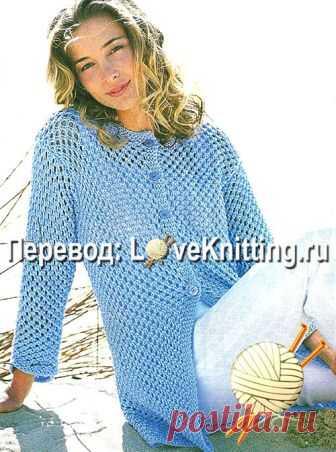 жакет узорчатый | Loveknitting.ru