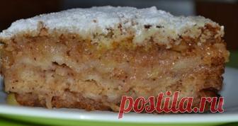Самый вкусный яблочный пирог «Домашний»
