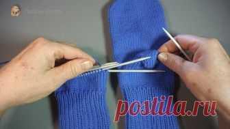 вязаные носки на 5 спицах пошаговое видео с фото и описанием