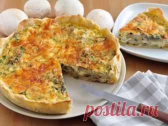 Аппетитный киш с грибами и сыром — vkusno.co