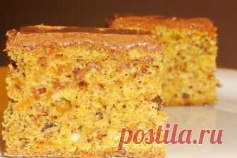 El pastel de calabazas con las avellanas en el chocolate de leche, la receta — Вкусо.ру