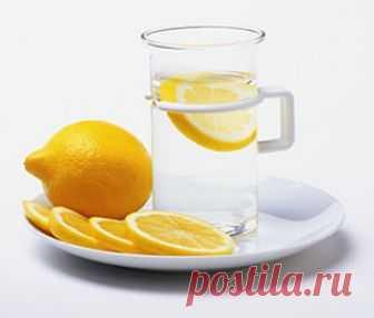 Лимонная вода натощак по утрам для похудения, здоровья, красоты