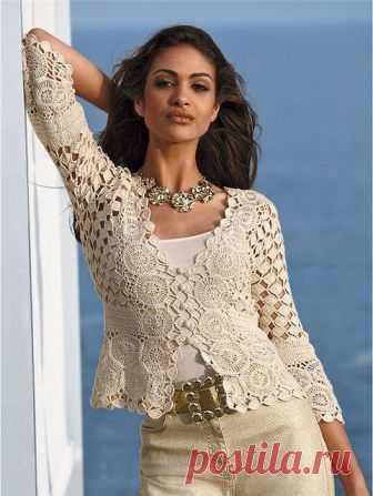 ergahandmade: Crochet Lace Bolero + Diagrams