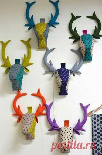 Оленьи головы (выкройки) Модная одежда и дизайн интерьера своими руками