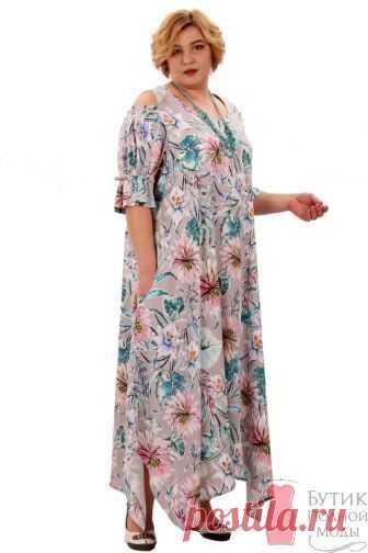 Платье большого размера для дома и отдыха 52-335К-873