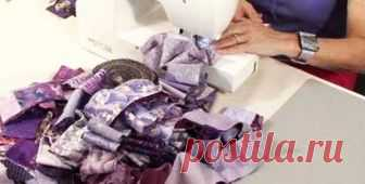 Рукодельница взяла лоскутки красивой ткани и сшила их по диагонали. За 40 минут изготовила прекрасную вещь ...