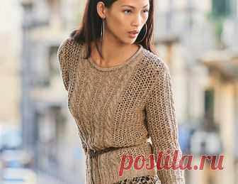 Jumper with a mesh pattern and \