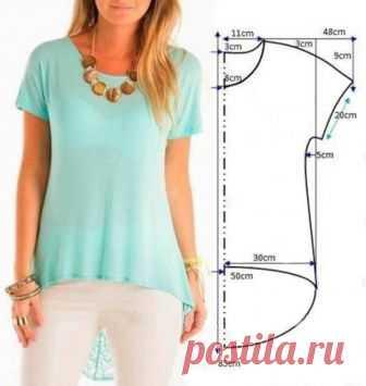 Как сшить блузку или платье своими руками БЫСТРО по одной выкройке   модница   Яндекс Дзен