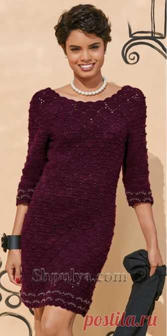 Ажурное платье с декольте крючком - SHPULYA.com