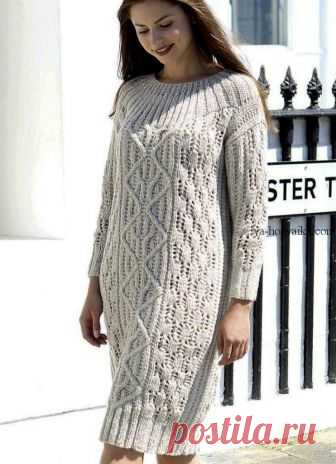 9b5af6f2541bb08 Тёплое платье спицами схема выкройка. Связать теплое платье спицами схемы Вязаное  платье от Maisie Smith