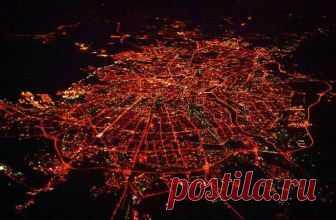 Санкт-Петербург с высоты 10800м