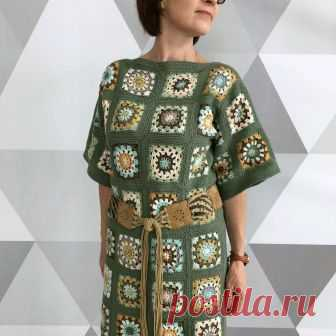 Вязаное платье из квадратов – купить в интернет-магазине на Ярмарке  Мастеров с доставкой Вязаное 6b1f815b162