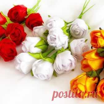 Как сделать розы из лент своими руками мастер-классы