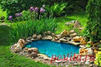 Небольшой, декоративный миниатюрный пруд - это не только красиво. Нахождение у воды успокаивает и умиротворяет. Природные звуки настраивают на гармоничное настроение, а визуальные приятности, в виде рыбок и растений в пруду, снимут накопившийся негатив.Маленькие пруды на заднем дворе позволят ощутить умиротворение, не занимая много места в саду. Смотрите видео в конце статьи: как сделать мин-пруд в саду или на даче.