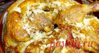 Чкмерули — грузинский рецепт очень вкусной курочки Поджаренная курочка под молочно-чесночным соусом просто тает во рту.
