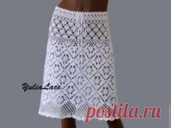 3eafc261174 Купить или заказать Вязаная юбка в интернет-магазине на Ярмарке Мастеров.  Юбка связана крючком