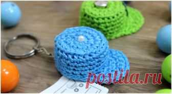 Crochet Mini Cap Keychain