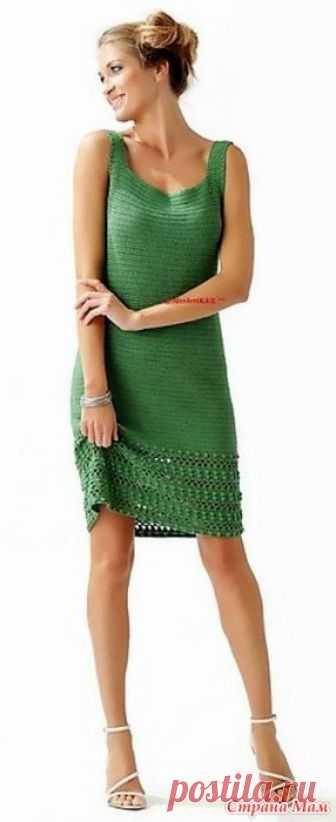 . Элегантное зеленое платье. Это платье смотрится очень элегантно и прекрасно подойдет для летних дней. http://svithobby.blogspot.co.il/