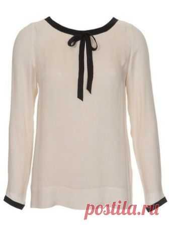 2cb4e9fd5d8 Блузка прямого кроя - выкройка № 135 из журнала 2 2013 Burda – выкройки  блузок