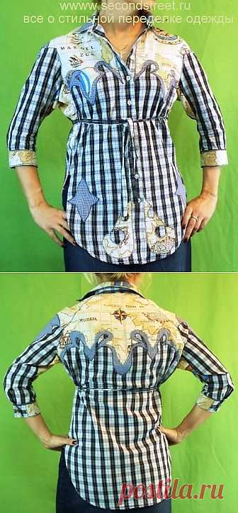 Кастомайзинг, переделка мужской рубашки / Рубашки / Модный сайт о стильной переделке одежды и интерьера