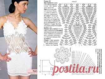 Пляжное мини платье-сарафан крючком – 5 моделей со схемами и описанием