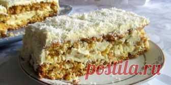 Торт бисквитный морковный с кремом : Выпечка : Кулинария : Subscribe.Ru