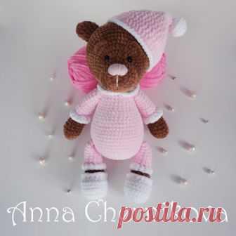 плюшевый мишка соня амигуруми схемы и описания для вязания игрушек