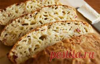 Сырный хлеб без замеса