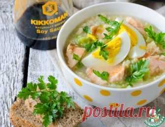 Пшенный суп с семгой и молодой капустой – кулинарный рецепт