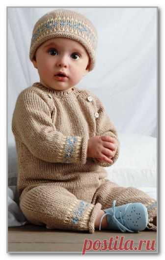 вязание спицами детям от 0 до 3 лет описание детской модели со