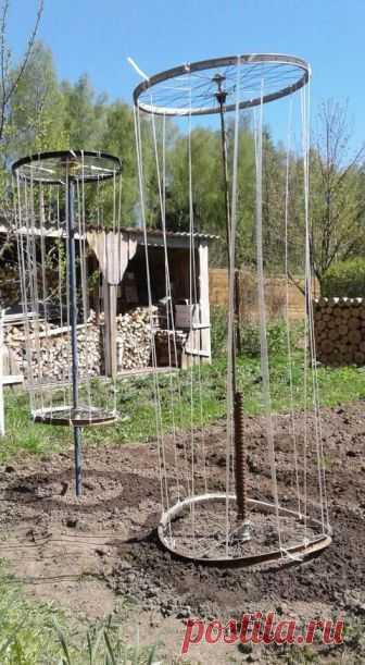Я говорила о своей приспособе для вьющихся,вот посадила сегодня горох и снова напоминаю о удобстве конструкции!