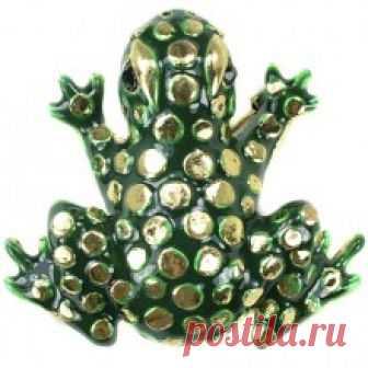 Купить брошь лягушка 351773 бижутерия в Москве