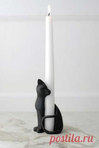 Cat Taper Candle Holder - perfect for Halloween!