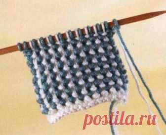 Вязание: «тканая» рисовая вязка