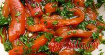 Если готовить болгарский перец, то только так. Потрясающая заготовка на зиму с чесночком!  Пряно, вкусно, красиво!
