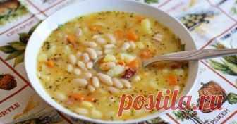 Божественный суп с фасолью. Рецепт моей бабушки    Получается вкусным и очень наваристым!          Ингредиенты на 3 л воды: Фасоль 400 гКартофель 3 шт.Рис 0,25 стак.Лук 1 шт.Мука 1 ст. л.Морковь 1 шт.Подсолнечное масло 30 млЧерный перец (молотый) 0…