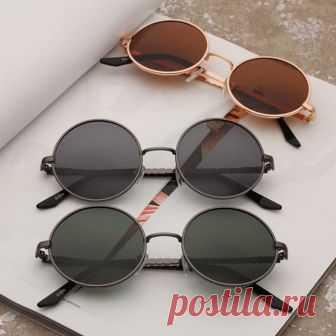 35a639c2ea13 Круглые поляризованные очки от солнца с тонкой металлической оправой (в  наличии рама графит линза черная