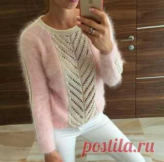 Оригинальный пуловeр спицами