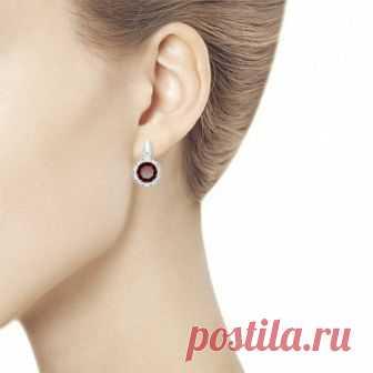 Купить серьги из серебра с гранатами 3 2 5 арт. 92021734 за 2 790 руб. в ювелирном магазине KOKO-LOKO.ru