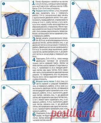схема вязания носков на 5 спицах для начинающих 11 тыс изображений