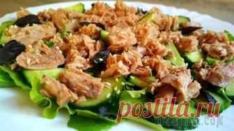 Лёгкий салат с тунцом. Быстрый и полезный ужин!