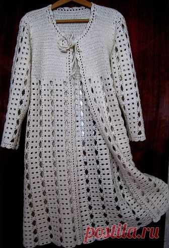 Кружевной кардиган вязаный крючком. Lacy chaqueta de punto de ganchillo | Вязание для всей семьи